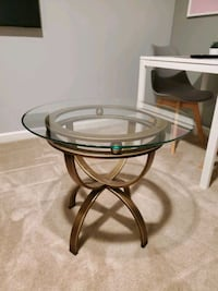 Glass End Table