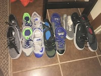 assorted pairs of sneakers