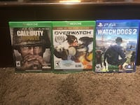 COD WW2 FOR XBOX ONE OVERWATCH FOR XBOX ONE AND WATCHDOGS 2 FOR PS4 Santa Fe Springs, 90670