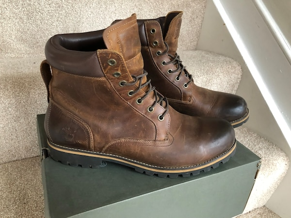 Timberland RARE Leather brown size 12 8abad6ed-0c01-4386-94df-4b6e82bd8d90