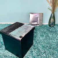 BRAND NEW Magic Sequins Folding Storage Ottomans Edmonton, T5T 2B3