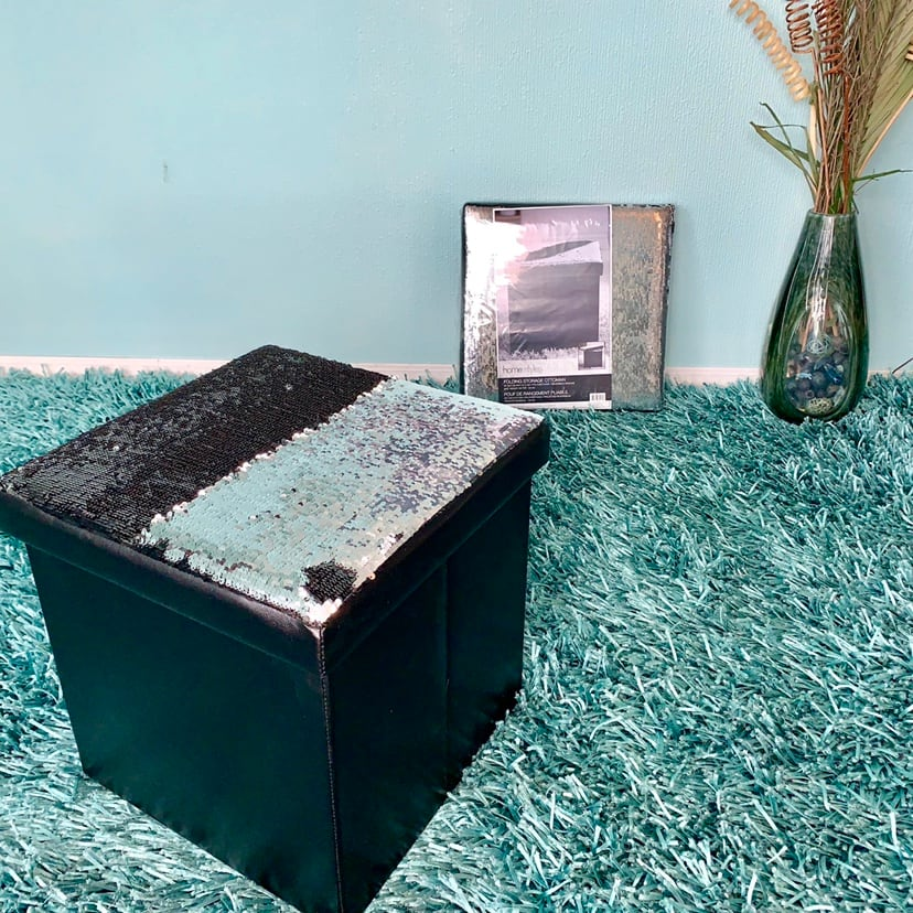 BRAND NEW Magic Sequins Folding Storage Ottomans