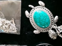 sterlin silver 925 turquoise turtle nickles  Great Falls, 59404