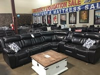 Polished Microfiber Reclining Sectional. Brand new.