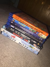 Assorted DVD's and Blu Rays