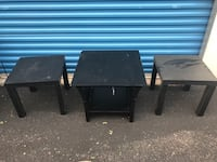 two black wooden side tables Lakewood, 80228