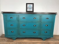 Rustic turquoise dresser/ buffet  Canby, 97013