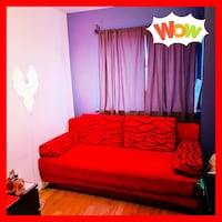 Red Queen Size Sofa Bed Sleeper Bed  Couch with Storage Space New York, 11368