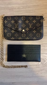 cartera de cuero negro y marrón Louis Vuitton Barcelona, 08029