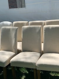 6 White leather high chair