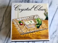 (NEW IN BOX) 2 pc. Chip & Dip Plate & Bowl Set Lead Free Crystal Toronto