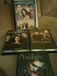 Twilight, Eclipse, Breaking Dawn, and New Moon DVD case series Warren, 44483