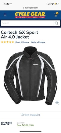 Cortech GX Sport Air Motorcycle Jacket Redlands, 92373