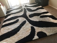 White and black area rug Irving, 75061