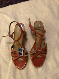 pair of brown leather open-toe sandals Piscataway, 08854
