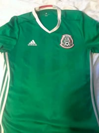 green and white Adidas jersey shirt Bakersfield, 93307
