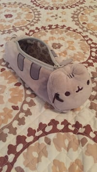 Pink and brown cat pencil case