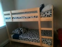 white wooden bunk bed with mattress Crest Hill, 60403