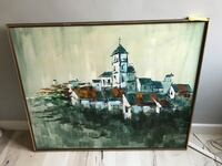Large Brown wooden framed painting Hacienda Heights, 91745