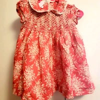 red and white floral cap-sleeved dress Rogers, 72758