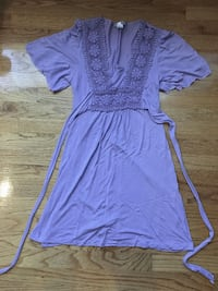 Violet Floral Crocheted Summer Dress - Size small/medium Vancouver