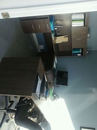 black wooden desk with hutch Montreal, H1K 3G3