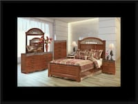 11pc Ashley Cherry bedroom set McLean