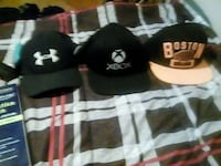 three Under Armour Xbox and Boston fitted cap