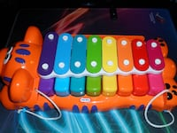 LITTLE TIKES JUNGLE JAMBOREE TIGER 2-IN-1 PIANO XYLOPHONE WITH MUSIC SHEET Richmond Hill