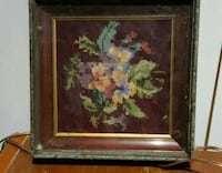 brown wooden framed painting of flowers Collingwood, L9Y 2M8