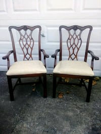 Vintage Mahogany Chippendale armchairs