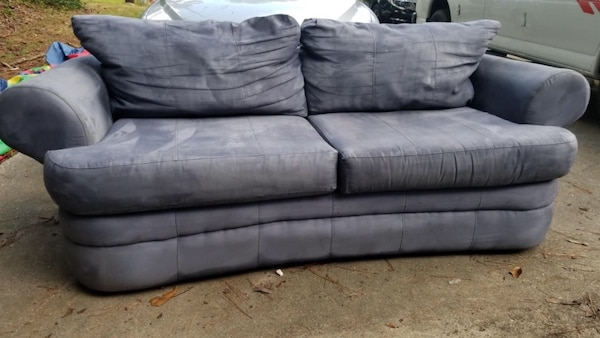 Lovely Blue Microfiber Sofa Must Go This Weekend Need The E