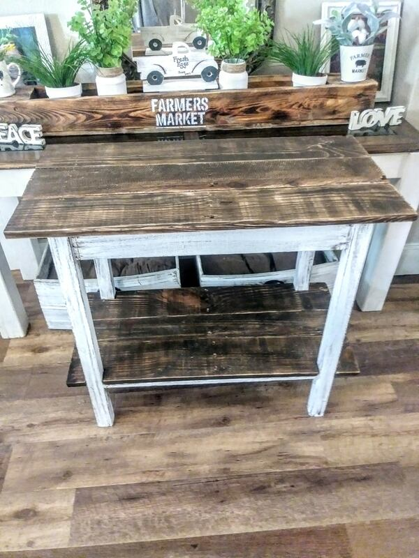 Rustic Farmhouse Entry Table 90f875c9-14a3-401b-bb2f-518521646908