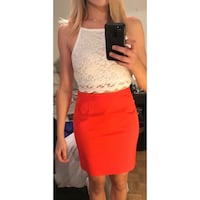 Red Judith and Charles pencil skirt