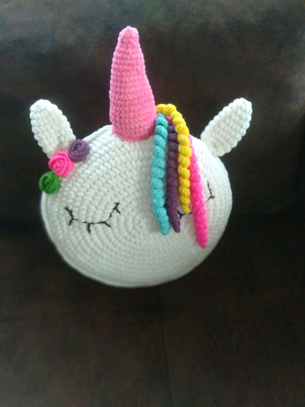 Unicorn Pillow Friend Crochet Pattern | Crochet unicorn pattern ... | 800x600