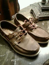 pair of brown leather boat shoes Garden Grove, 92840