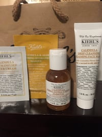 Kiehl's Deluxe Calendula face wash, toner and sample of face mask and water cream  Vancouver, V5V 4X5