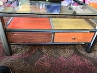 Contemporary coffee/game table - with storage