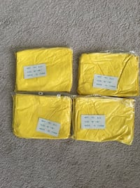 """Ponchos, heavy duty plastic reusable, yellow, 52""""x80"""", new, lot of 4 Lansdale, 19446"""