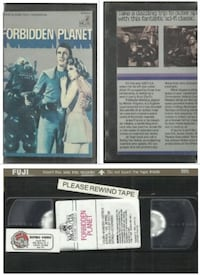 vhs ForbiddenPlanet MGM  Walter Pidgeon Anne Francis Previous rental i