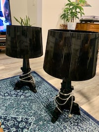 2 Black Table Lamps By Kartell Union City, 07087