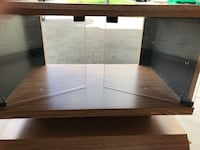 TV stand - wood with glass doors Newmarket, L3X 0C5