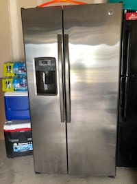 stainless steel side-by-side refrigerator with dispenser Keego Harbor, 48320