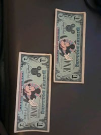 1st and 3rd year Disney dollars collectables Orlando, 32819