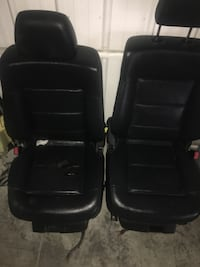 two black leather car bucket seats Charlotte, 28216