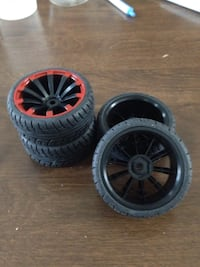 Red n Black Wheels n Tires On Road 12mm Hex Lehighton, 18235