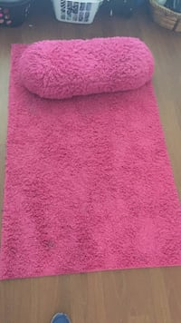 Super cute!!! Pink floor rug and matching body pillow Ocala, 34472