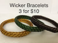 Wicker Bracelets, 3 for $10, Excellent Chesapeake, 23320
