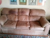 Free brown suede 3-seat sofa from Ikea Great Falls, 22066