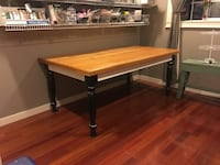 Large pine top table Keizer, 97303